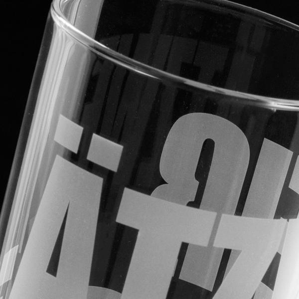 Glasdruck mit Ätzweiss bestellen shop Gläser