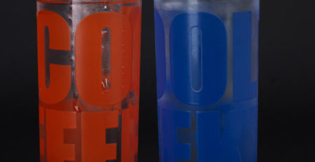 Glasdruck Gläser Cool Effekt Druckfarbe Kälte Färbung