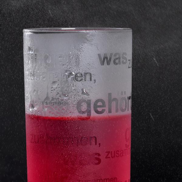 Glasdruck Glossy glänzend Gläser drucken Werbeartikel