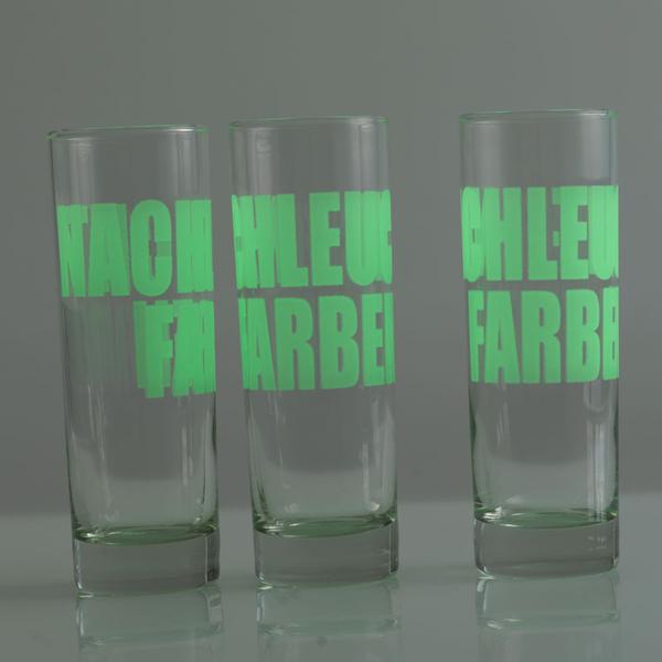 Leuchtendes Glas Druck Fluoreszierend Glas