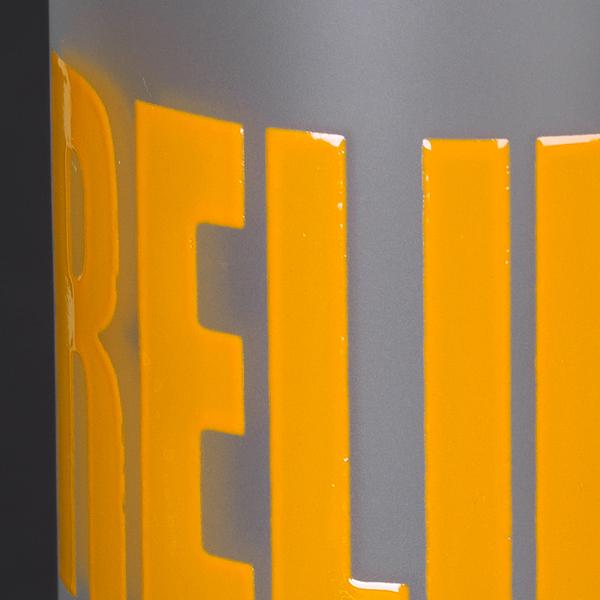 Reliefdruck Relief Druck auf Gläser und Tassen Werbemittel